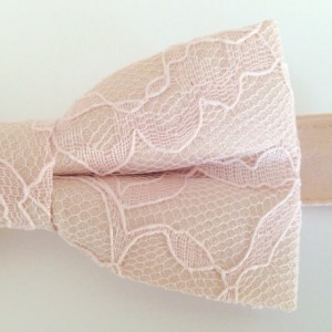 Blush Kissed Champagne Bow Tie