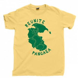 Reunite Pangaea Men's T Shirt, Mother Earth Pangea Jurassic Supercontinent Unisex Cotton Tee Shirt