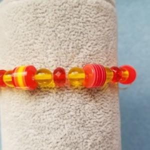 red yellow bead bracelet