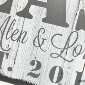 Custom Wedding Gift | Family Name Sign | Wooden Sign | Last Name Wedding Established | Wood Anniversary | Rustic Name Sign | Bridal Gift