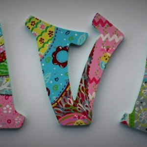 Handpainted Wall Letters, customizable to bedding or theme -- Price Per Letter