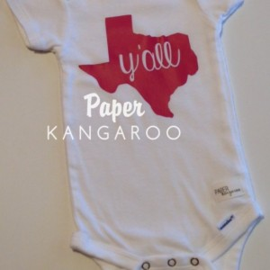 hot pink Texas y'all snap bodysuit, 6-9 months, ready to ship