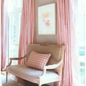 Pastel Pink dupioni silk draping