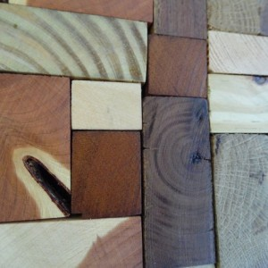 Wooden Mosaic Heart, End Grain Heart, Rustic Home Decor