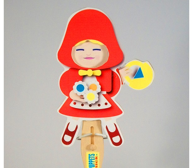 Wooden Puppet-  Red Riding Hood