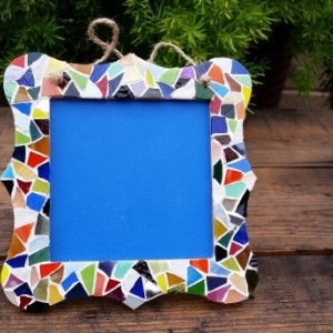 Chalkboard with Stained Glass Mosaic Border