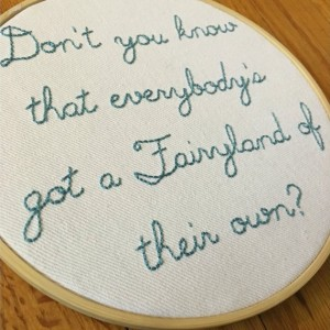 Mary Poppins Embroidery Quote, Mary Poppins Art, Embroidery Hoop Art, Book Quote Embroidery, P.L. Travers Art Quote, Disney Embroidery Quote