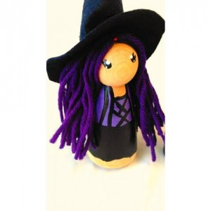 Halloween - Halloween witch dolls - Warlock doll - Wizard doll - Halloween gift - Halloween toy - Halloween dolls - Peg dolls - Peg people