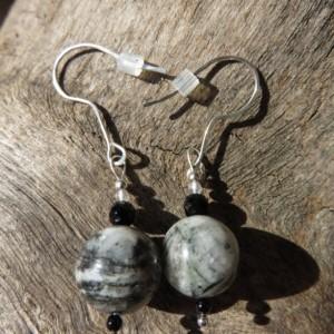 Handmade Jasper and Sterling Earrings