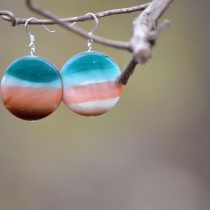 Sunset Resin Earrings