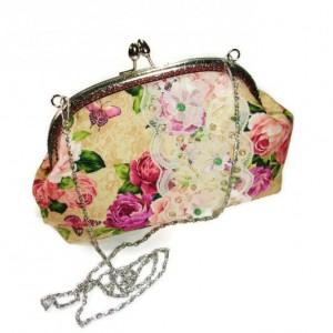 Kiss Lock Clutch, Ladies Clutch,  Kiss Lock Handbag, Beaded Handbag