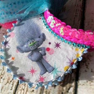 Trolls Princess Poppy & Guy Diamond Minnie/Mickey Mouse Handmade Headband