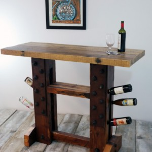 Reclaimed Wood Wine Bar