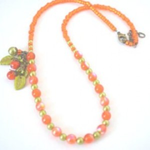 Orange Elegance  Necklace
