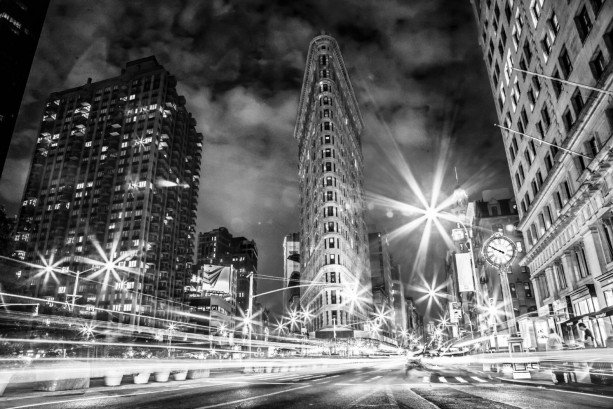 "New York Photography, Flatiron Building, NYC Art, , 5th Ave, ""NY Lights"""