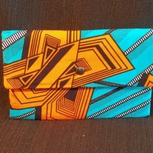 Clutch Wallet - Blue/Orange