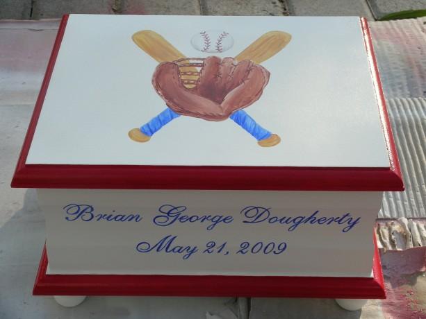 Keepsake Box Chest personalized - Baseball baby gift - boy gift