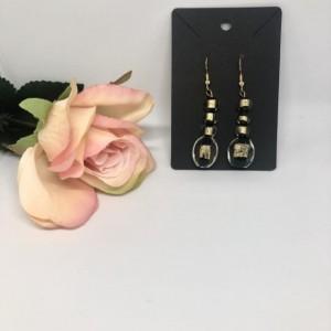 Gold Mystic Dangle Drop Earrings