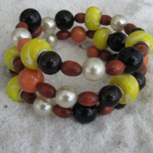 Beaded Bracelet  Bumble Bee