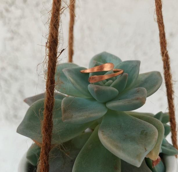 Copper Simple Overlap Ring