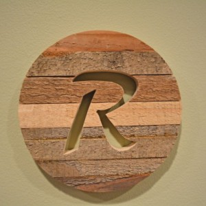 Round Wood Monogrammed Wall Art Various Sizes