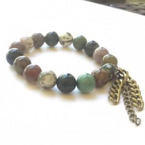 Jasper Bracelet with Chain