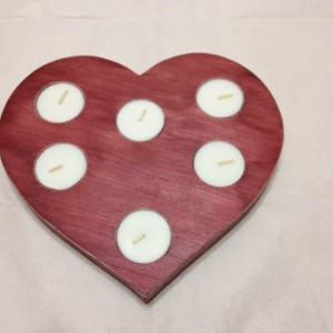 Heart tea light candle holder