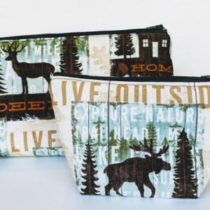 Small Wildlife Organizer Bag, Matching Travel Bag, Travel Case, Zipper Bag, Gift under 20, Outdoorsy Gift