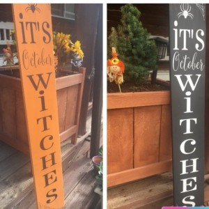 Fall Porch Sign Witch Halloween Porch Sign, Fall Porch Decor, Halloween Porch Decor, October, Spider Decor, Halloween Signs, Porch Signs