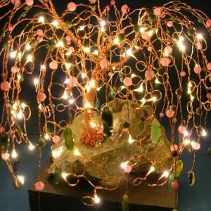 Springtime Copper Light Up Willow Tree