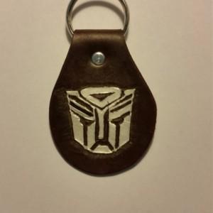 Handtooled Autobot Keychain Fob