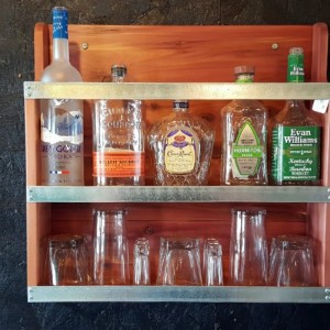 Liquor Cabinet, Mini Bar, Handcrafted Cabinet, Rustic Liquor Rack, Barware, Man Cave, Aromatic Cedar Cabinet