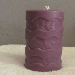 Purple Wave - Custom Scented Soy Pillar Candle