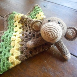 Marvin Monkey Crocheted Baby Lovey