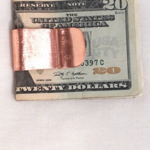 Copper Money Clip Linen Textured OOAK
