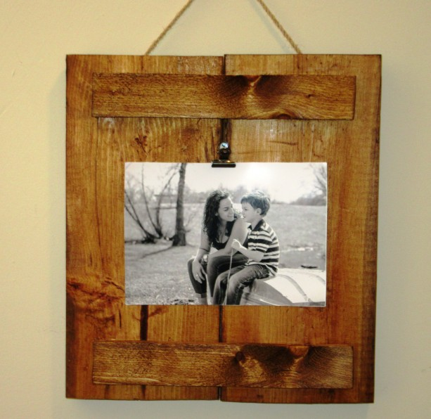 Reclaimed Wood Frame, Photo Clipboard, 4X6 or 5X7 photo frame, ru ...