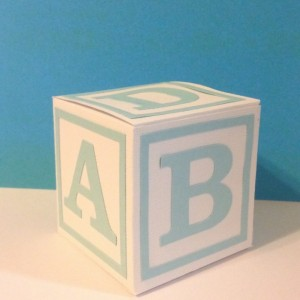ABC Block Favor Boxes