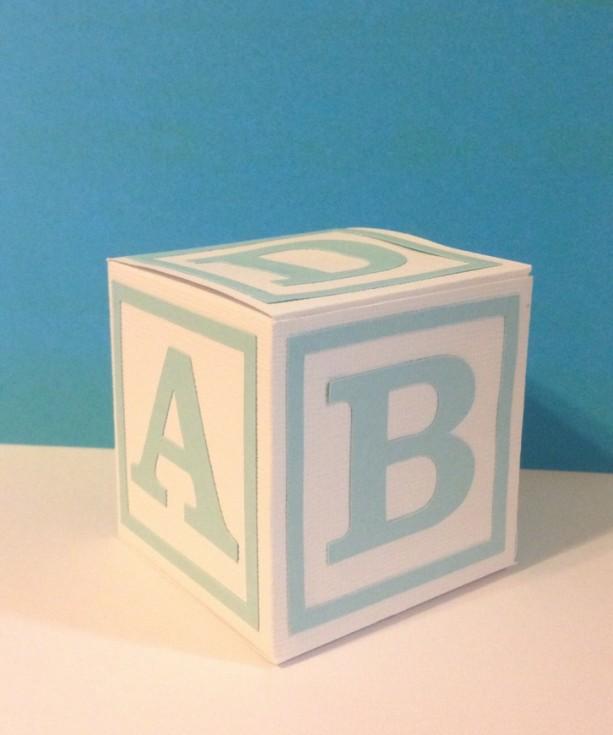 ABC Block Favor Boxes