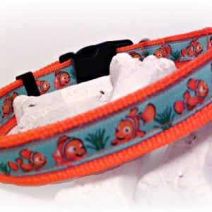 Dog Collar - Adjustable Dog Collar - Large Dog Collar - Medium Dog Collar - Goldfish Dog Collar- Goldfish- Orange Nylon Collar- Koi Collar