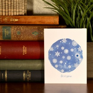 Holiday Cards - Set of 6 - let it snow - Snowflakes - Blank Inside
