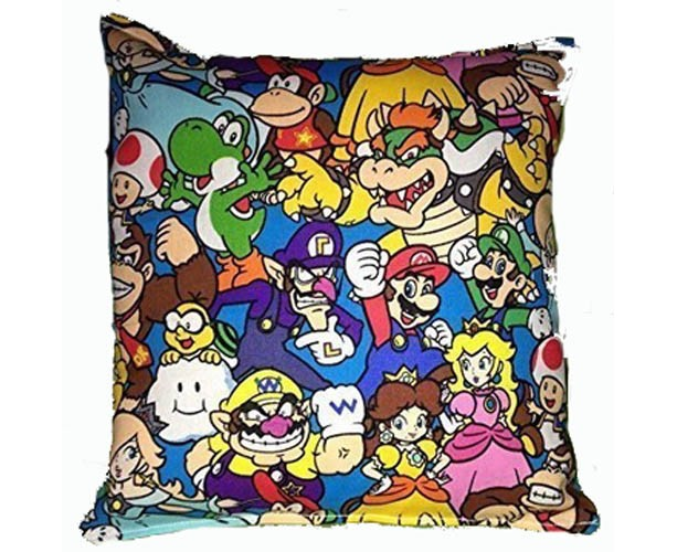 Mario Brothers Pillow, HANDMADE in USA, Super Mario Pillow, Nintendo Pillow