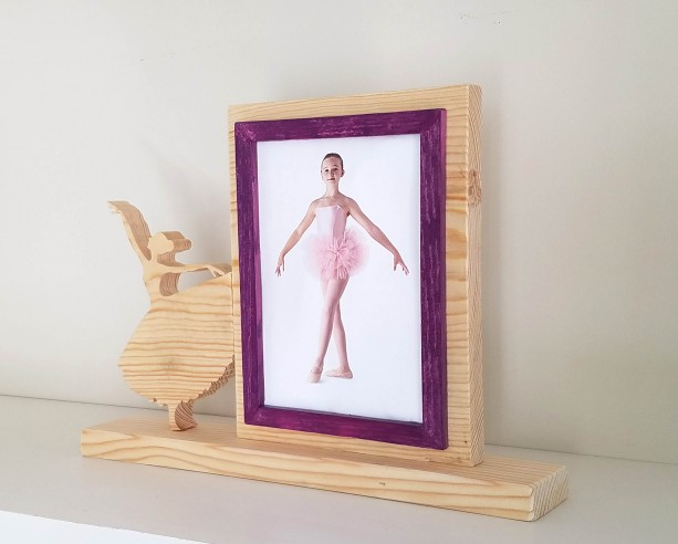 Personalized 5 x 7 Picture Frame with Carved Ballet, Customized Ballet Photo Frame
