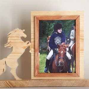 Personalized 5 x 7 Picture Frame with Carved Horse, Customized Horse Photo Frame