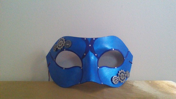 """Blue Gears"" Cosplay/Masquerade Mask"