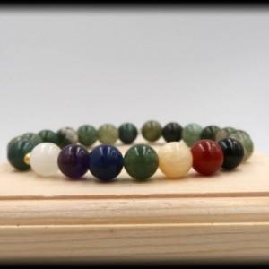 Green Moss Agate Chakra Bracelet for Prosperity and Abundance