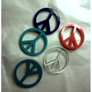 Peace sign charms,laser cut charms,70s stuff,holographic