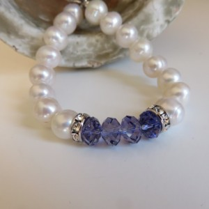 "Big Pearls and ""Tanzanite"" (Swarovski crystal)"