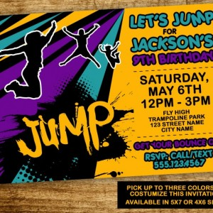 Trampoline Birthday Party Invitation