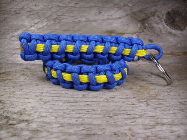 Custom Thin Line Paracord Bracelet and Key Chain Combo