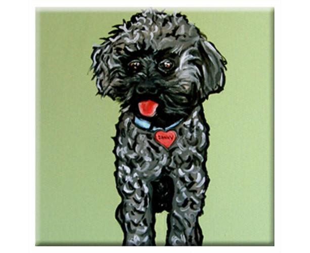 """DOG TILE - Rescued Dog """"Danny""""  Signed By Artist A.V.Apostle"""
